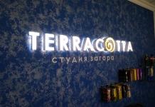Терракотта. Световой логотип